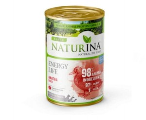 NATURINA ELITE WET ENERGY LIFE 400G - 97% KACZKA